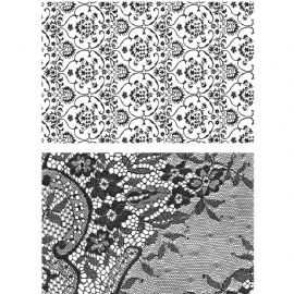 Stampers Anonymous/Tim Holtz - Cling Mount Stamp Set - Ornate & Lace - CMS348